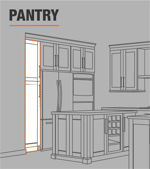Kitchen Cabinet Door Replacement Options: Hampton Bay Shaker Assembled 18x90x24 In. Pantry Kitchen