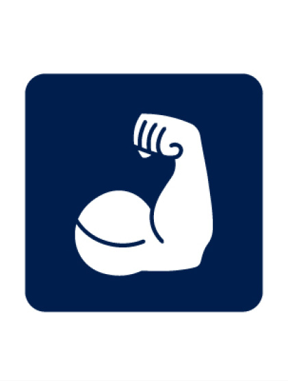 Strong arm icon