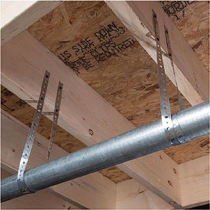Galvanized metal hanger strap
