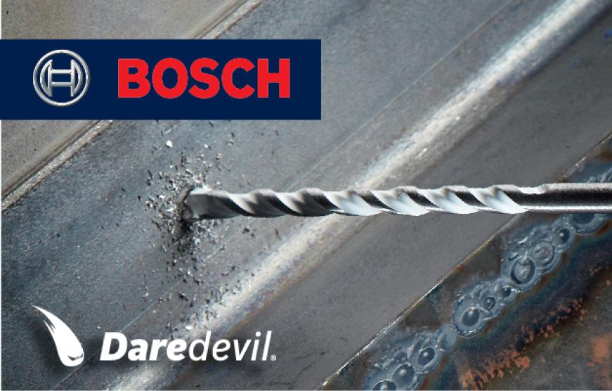Bosch Multipurpose bit drilling into metal