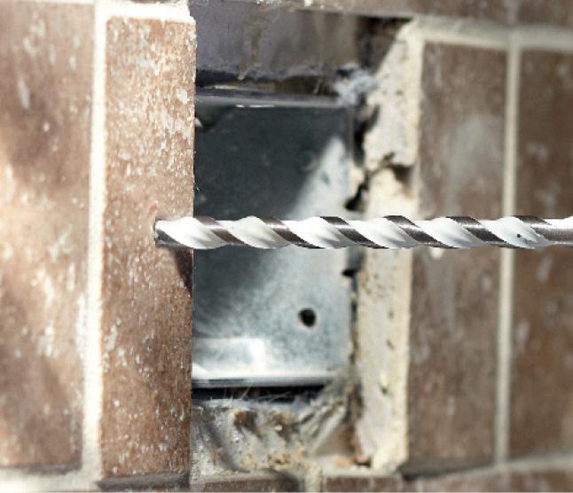 Bosch Multipurpose bit drilling into brick