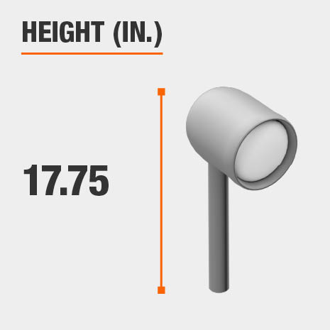 This light's height is 17.75 inches.