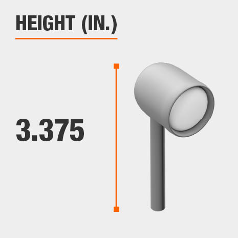 This light's height is 3.375 inches.