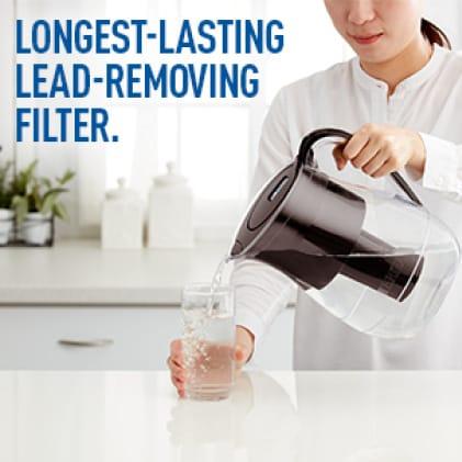 Longest-lasting lead-removing filter.