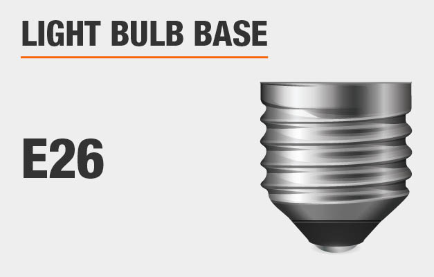 Recommended bulb base: E26