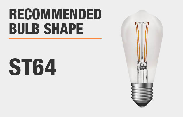 Recommended bulb shape: ST64
