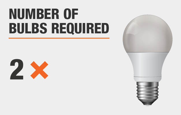 Number of bulbs required: 2