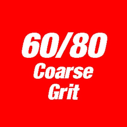 This is an Image of 60/80 coarse grit.