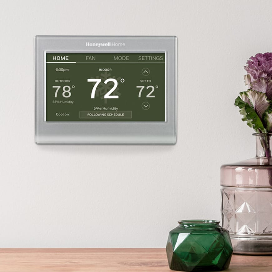 Smart Color thermostat with a bright, easy-to-read touchscreen
