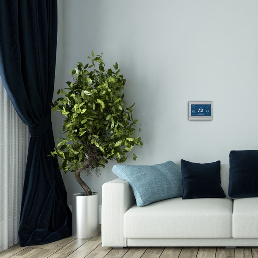 Smart Color thermostat programmed to fit exact schedule