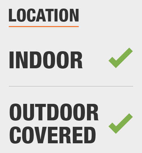 This product is recommended for use indoor and outdoor covered