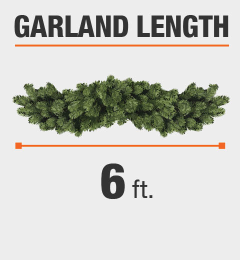 The Garland Length is 6 ft.