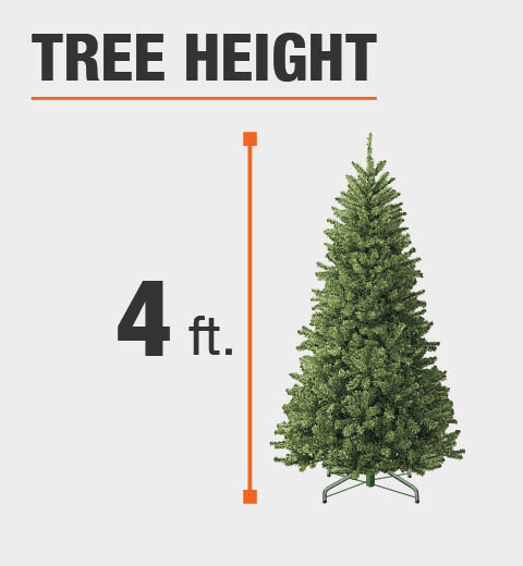 White 4 Foot Christmas Tree: Home Accents Holiday 4 Ft. Pre-Lit Noble Artificial
