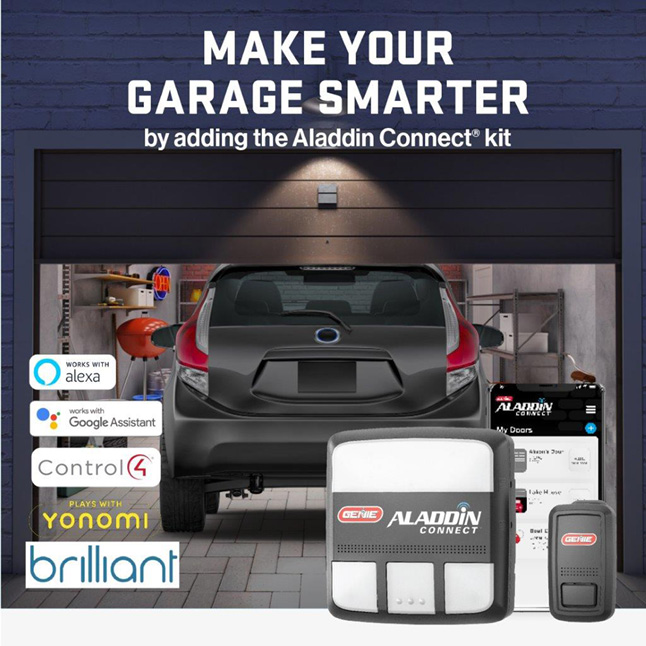 Genie has been making safe, reliable garage door openers for over 65 years Aladdin Connect