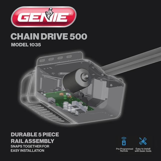 Genie has been making safe, reliable garage door openers for over 65 years 350 lbs door