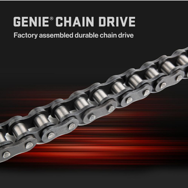 Genie has been making safe, reliable garage door openers for over 65 years with strong chains