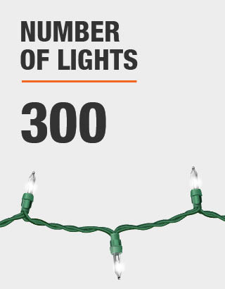 The number of lights is 300