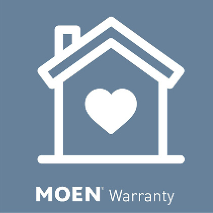 Backed up by Moen's 10 Year Limited Warranty with in-home service provided guarantees help is there when you need it