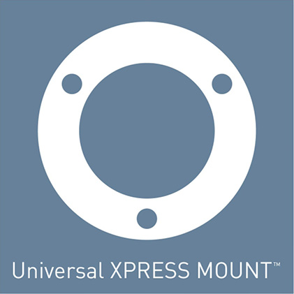 Installation is fast and easy with it's compact size and the Universal XPRESS Mount that fits most existing 3-bolt mounting assemblies
