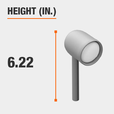 This light's height is 6.22 inches.