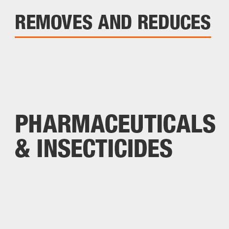Removes and reduces Pharmaceuticals and insecticides