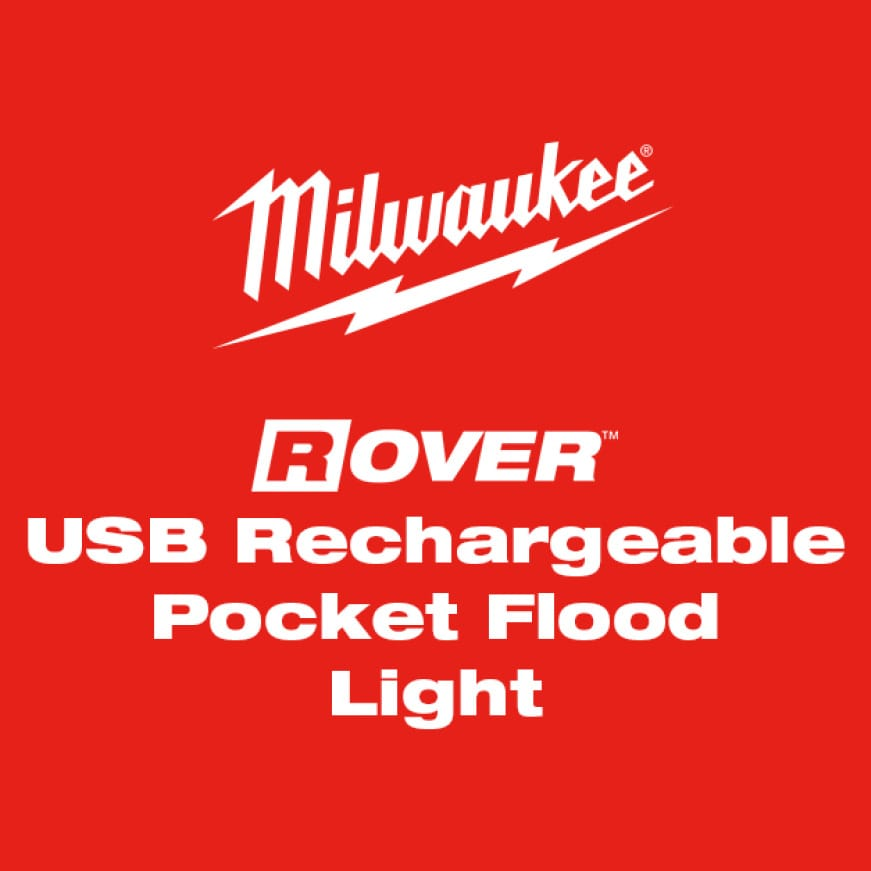 USB Rechargeable ROVER™ Pocket Flood Light is a versitile flood light that can stick, clamp, and be carried to adapt to any jobsite.