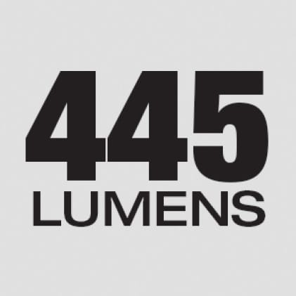 445 Lumens of TRUVIEW™ High Definition Output