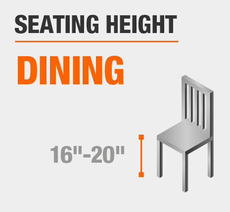 Seating Height Dining