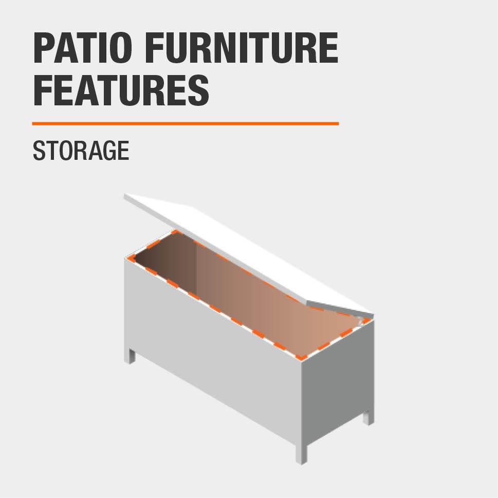 Patio Furniture Features Storage