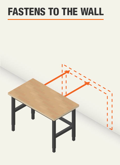 Workbench fastens to the wall