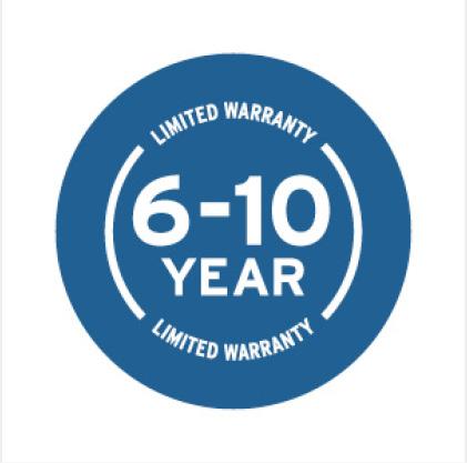 Six to Ten Year Warranty Icon