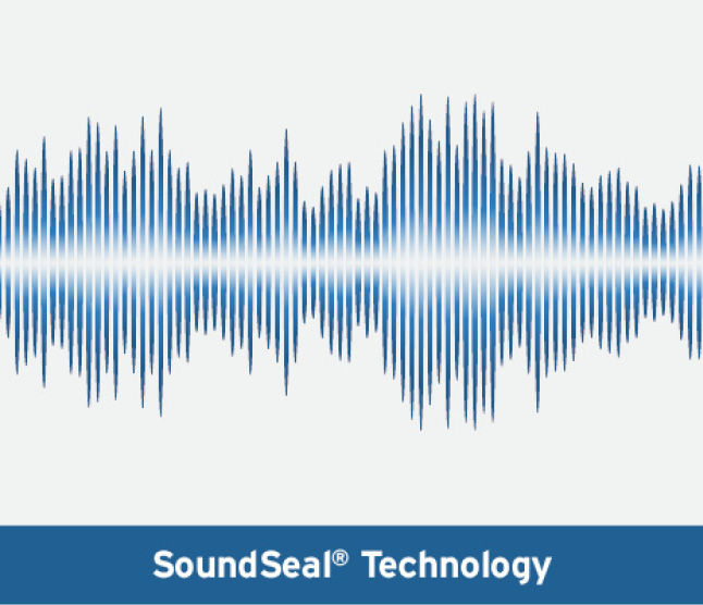 Graphic of soundwaves
