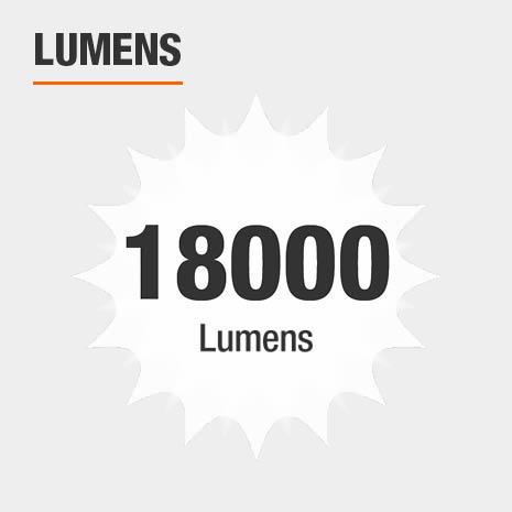 This light has a brightness of 18000 lumens.