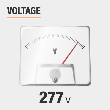 This light's input voltage is 277.
