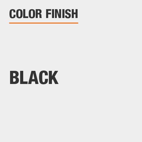 This bathroom vanity mirror color finish is Black