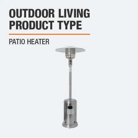 Hampton Bay 48000 Btu Stainless Steel Patio Heater Nczh G Ss The Home Depot