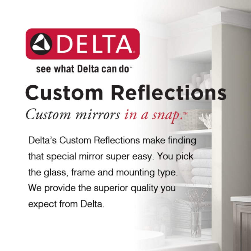 Image introducting Delta's Customizable Mirror