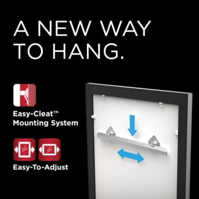 Image showing Delta mirrors as easy to hang and adjust