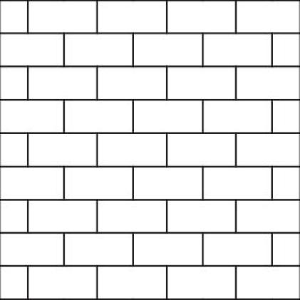50% Brick Joint Pattern