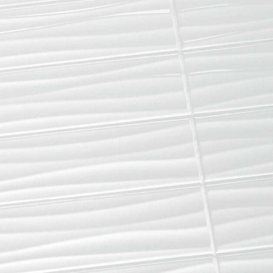 Close-up image of 4x16 wave tile