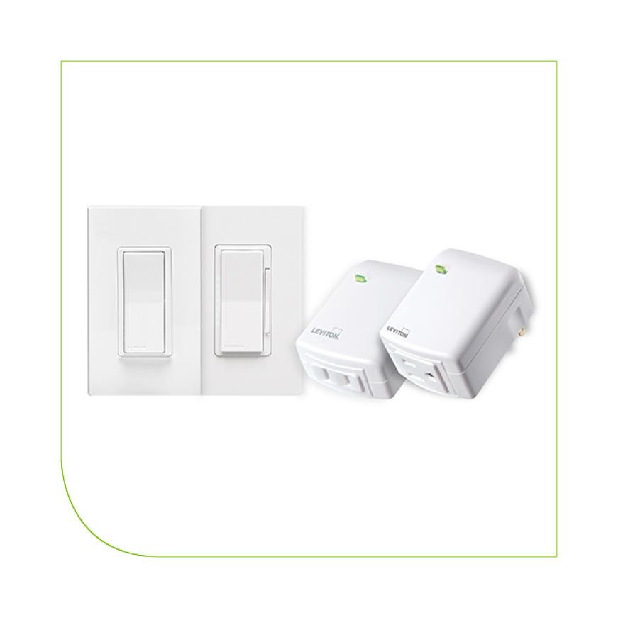 Leviton Decora Z Wave Controls 300 Watt Led Cfl Compatible Plug In Dimming Lamp Module White 3