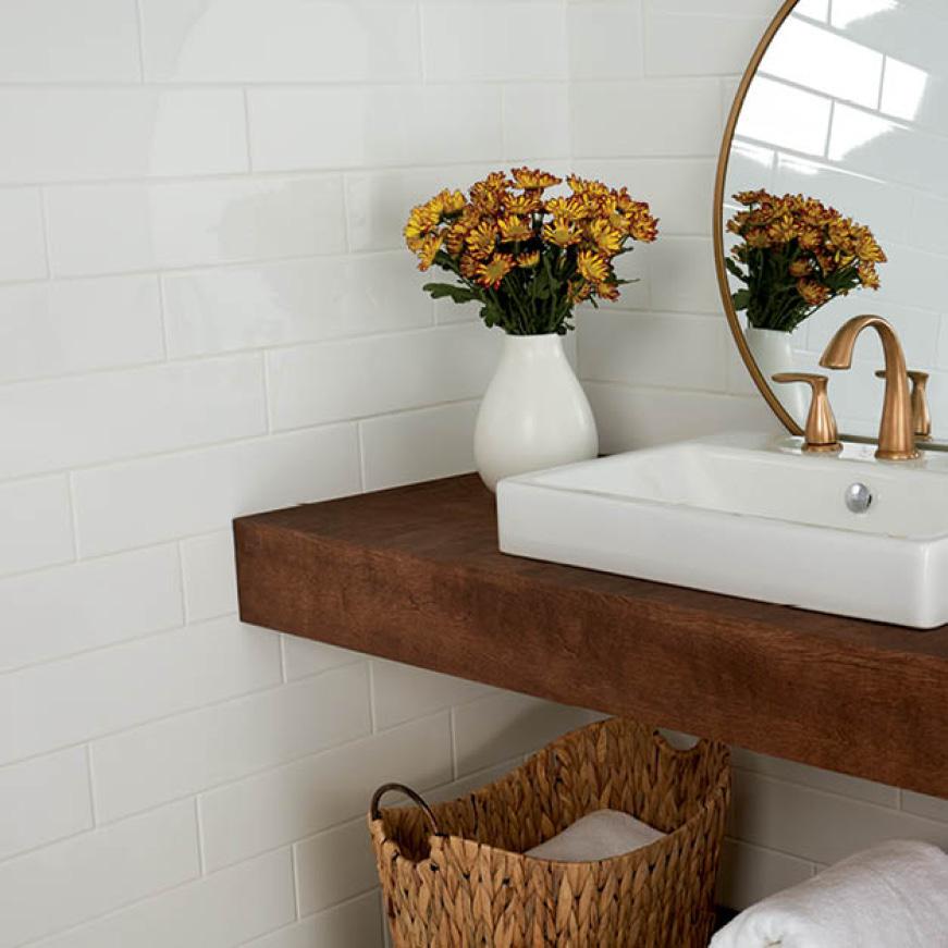 Bathroom featuring 3x12 tile