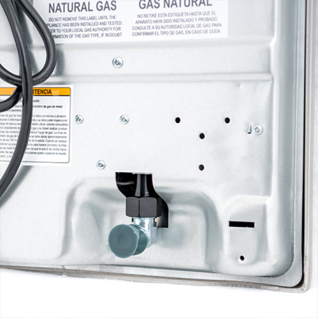 Gas appliances work with natural and LP gas