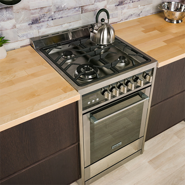 Gas range with convection oven looks sleek