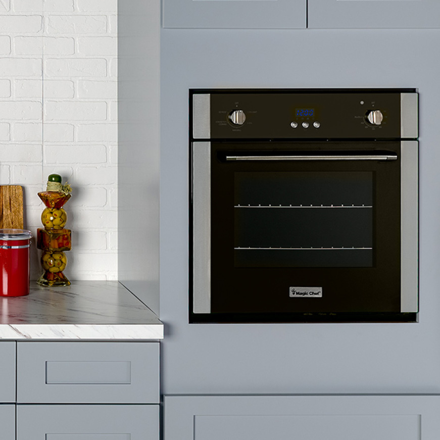 Line offers electric and gas ranges and cooktops and an electric wall oven