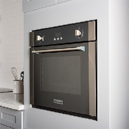 Electric oven has a high-end look