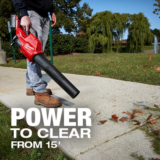 More power for clearing leaves and debris to increase productivity