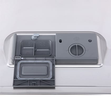 Automatic detergent and rinse aid dispensers are easy to clean