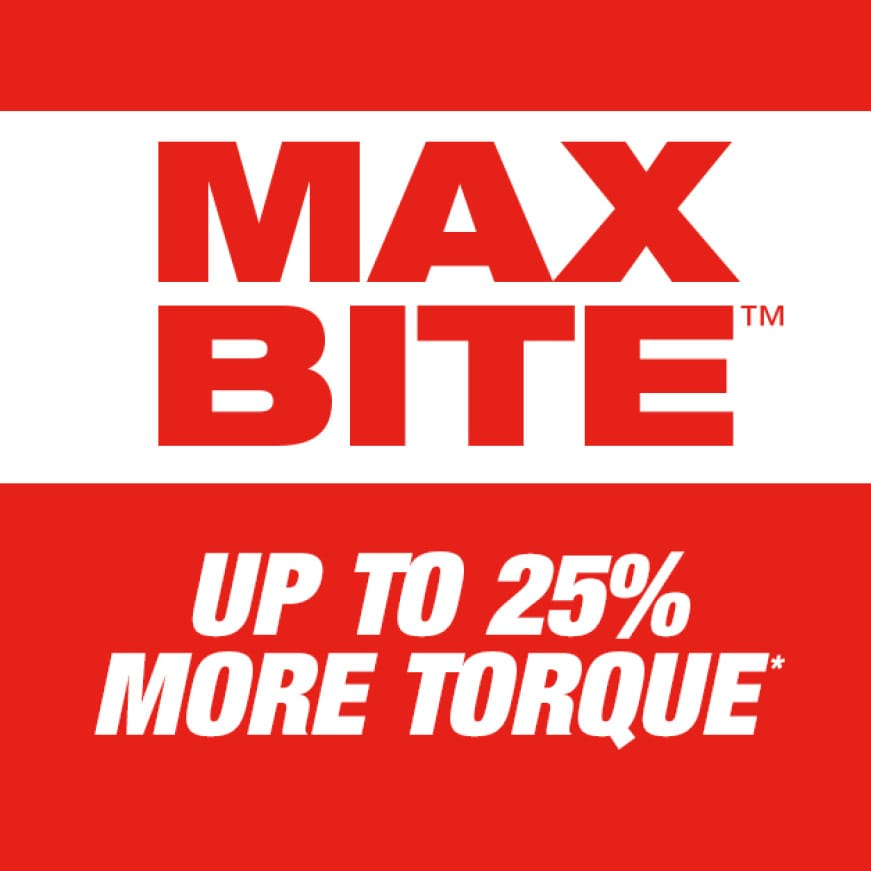 Provides up to 25% more torque