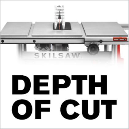 Depth of cut icon.